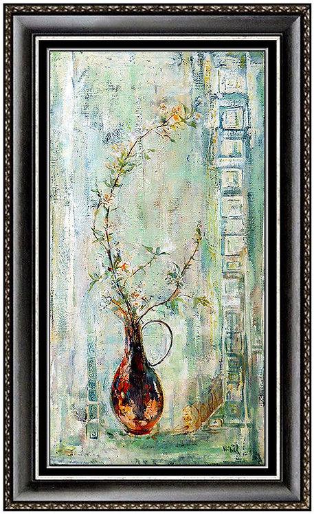 """Original Vase of Flowers"" by Edna Hibel"