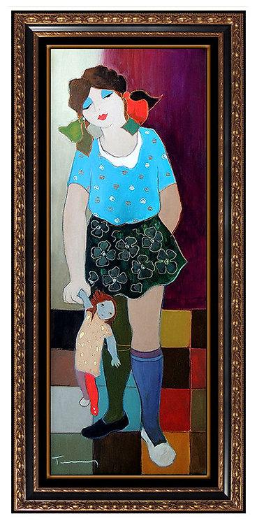 """My Doll - Original"" by Itzchak Tarkay"