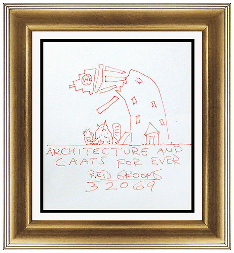 """""""Architecture and Caats Forever"""" by Red Grooms"""