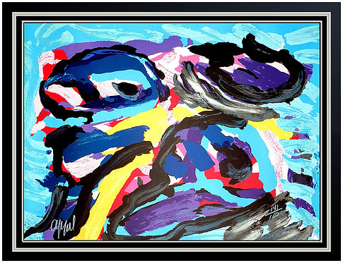 """Three Faces Like Clouds"" by Karel Appel"
