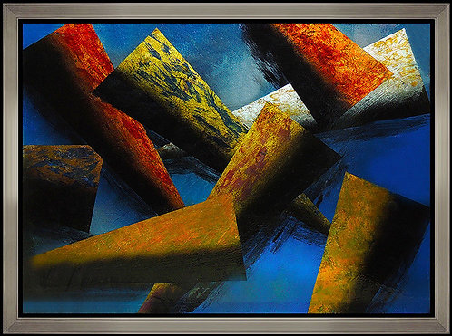 """""""Original Blue Abstrsct Composition"""" by Judy Stabile"""