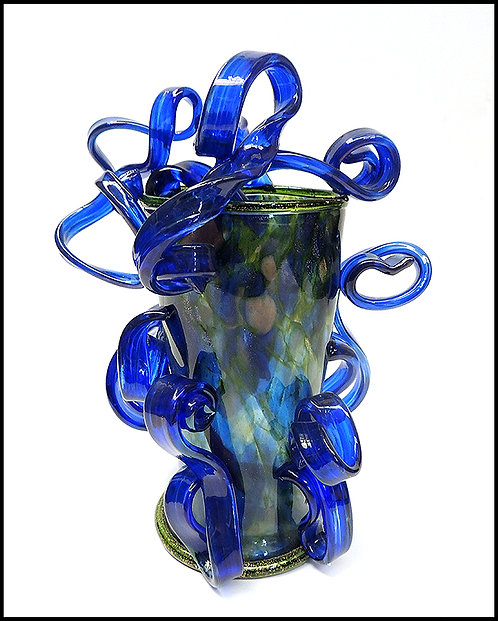 """Blue and Green Ribbon Vase"" by Dale Chihuly"