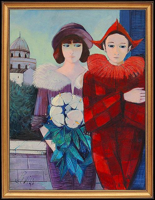 """""""Original Saltimbanque at Sa Femme"""" by Charles Levier"""
