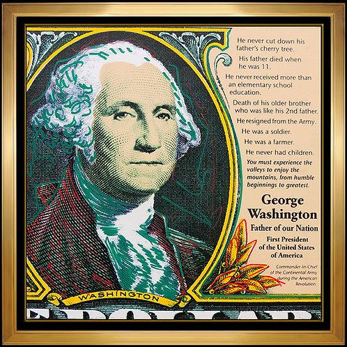"""George Washington"" by Steve Kaufman"