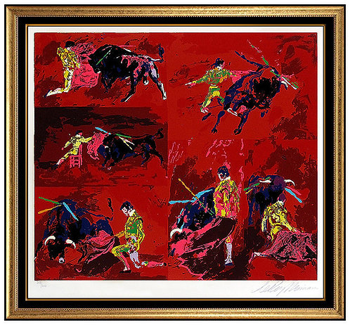 """Red Corrida"" by LeRoy Neiman"
