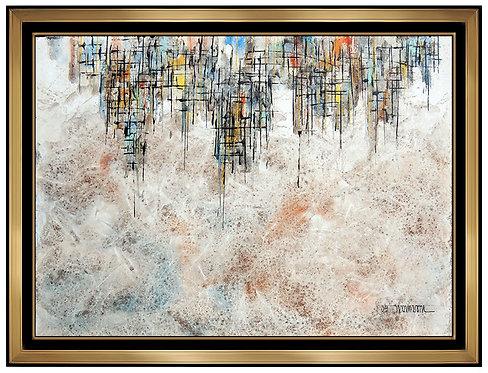 """""""Original City Skyline Portrait"""" by Leonardo Nierman"""