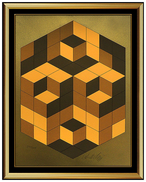 """Composition Gold"" by Victor Vasarely"