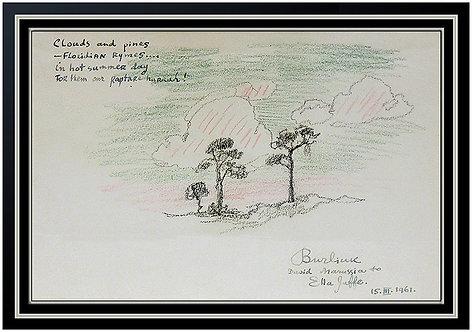 """Original Clouds and Pines"" by David Burliuk"