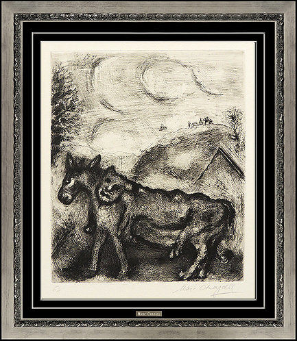 """Fables de La Fontaine: The Donkey In The Skin of a Lion"" by Marc Chagall"