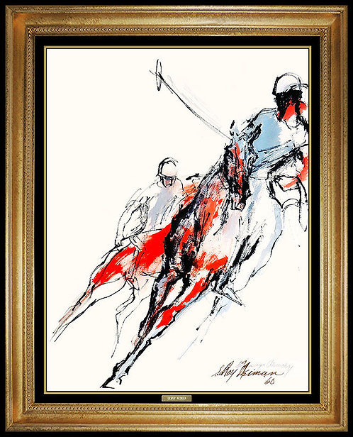 """On the Run"" by Leroy Neiman"