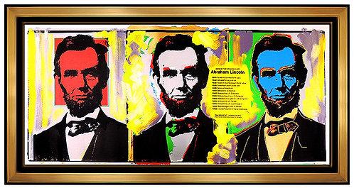 """Original 3 Lincolns"" by Steve Kaufman"