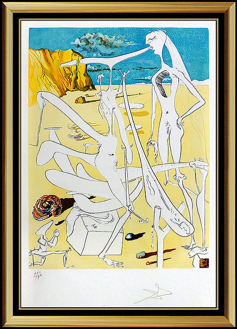 """Infratterrestrials Enjoyed by Dali"" by Salvador Dali"