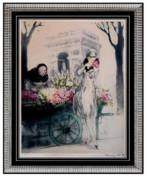 """""""Marchande de Fleurs (H.336)"""" by Louis Icart"""