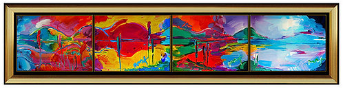 """Original One-Of-A-King Four Seasons 4-Piece Suite"" by Peter Max"