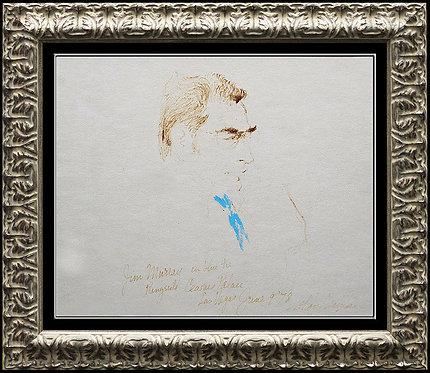 """Hall-Of-Famer Jim Murray"" by Leroy Neiman"