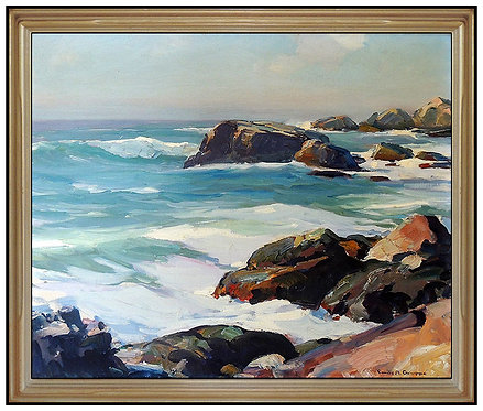 """Original Calm Shores Along Bass Rocks"" by Emile Gruppe"