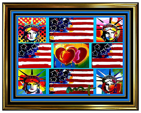 """Four Liberties, Four Flags and Two Hearts"" by Peter Max"