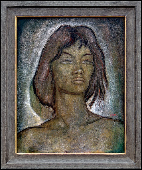 """Original Portrait of Olga"" by Angel Botello"
