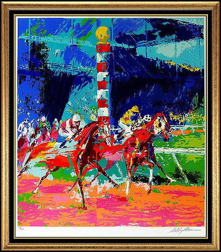 """Clubhouse Turn"" by Leroy Neiman"