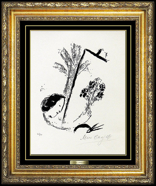 """""""Le Bouquet a la Main (M.207)"""" by Marc Chagall"""