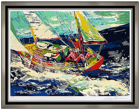 """North Seas Sailing"" by LeRoy Neiman"