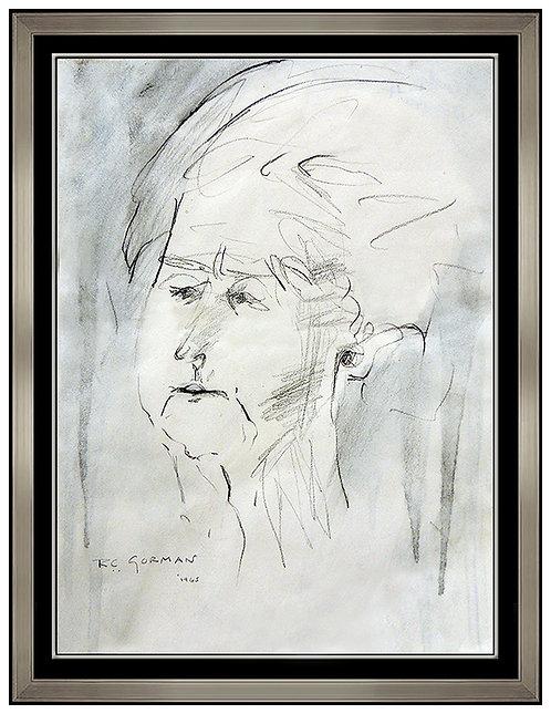 """Original Study of D.E Brett"" by R.C. Gorman"