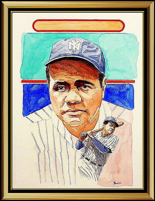 """Hall-Of-Famer Babe Ruth"" by Dick Perez"