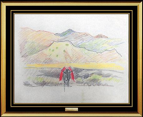 """""""Western Landscape"""" by Joseph Stella"""
