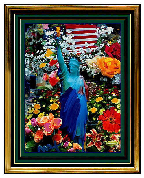 """""""LAND OF THE FREE HOME OF THE BRAVE"""" by Peter Max"""