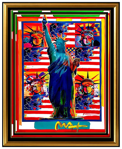 """God Bless America: 5 Liberties"" by Peter Max"