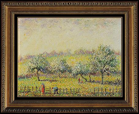 """""""Original Les Pommes en Fleurs"""" by Hughes Claude Pissarro"""