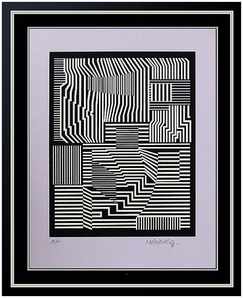 """Broey Neg"" by Victor Vasarely"