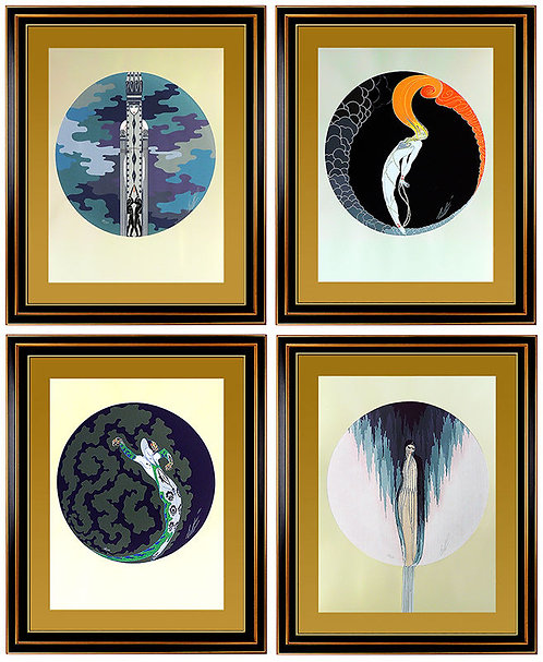 """""""The Four Emotions Suite"""" by Erte"""