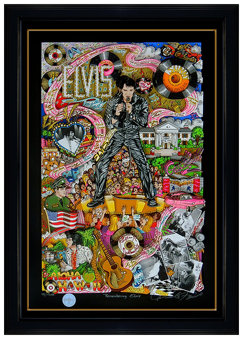 """Remembering Elvis"" by Charles Fazzino"