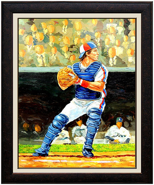 """""""Hall-Of-Famer Gary Carter"""" by Dick Perez"""