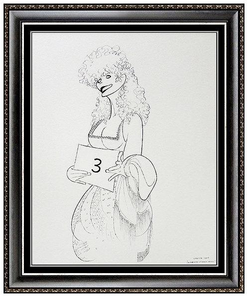 """""""Loretta Swit, The Mystery of Edwin Drood"""" by Al Hirschfeld"""