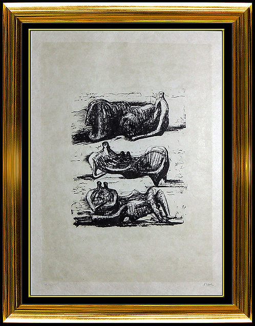 """""""Three Reclining Figures"""" by Henry Moore"""