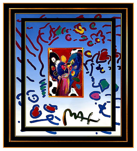 """Original Angel with Heart"" by Peter Max"