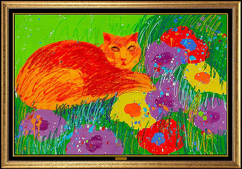 """""""Original Cat in the Garden"""" by Walasse Ting"""