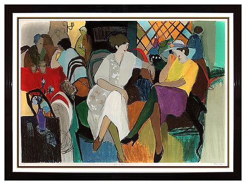"""""""Cafe de Paris"""" by Itzchak Tarkay"""