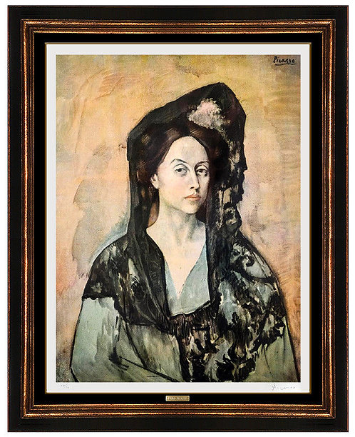 """Madame Ricardo Canals, From Barcelona Suite (CZ.232)"" by Pablo Picasso"