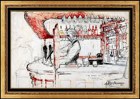 """Before the Heist - The Original Star Tavern"" by Leroy Neiman"