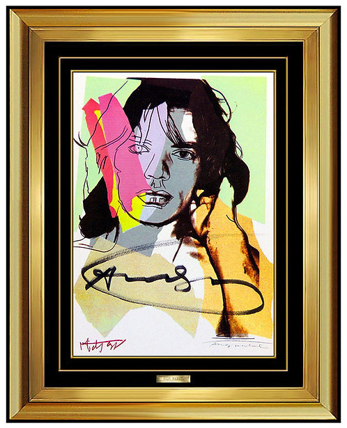 """Signed Mick Jagger Portrait"" by Andy Warhol"