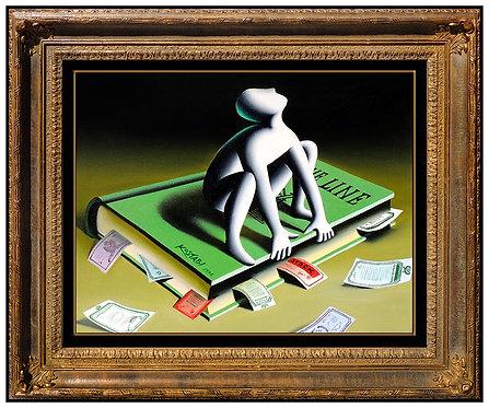"""Original Judging a Book"" by Mark Kostabi"