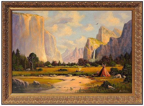 """Original Teton Camp"" by Heinie Hartwig"