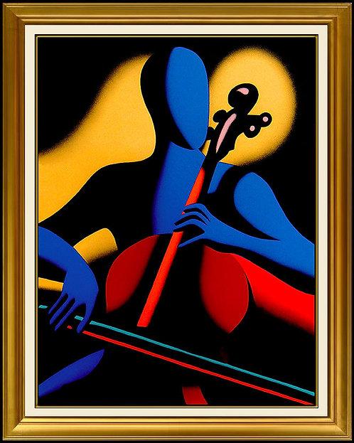 """The Cellist"" by Mark Kostabi"