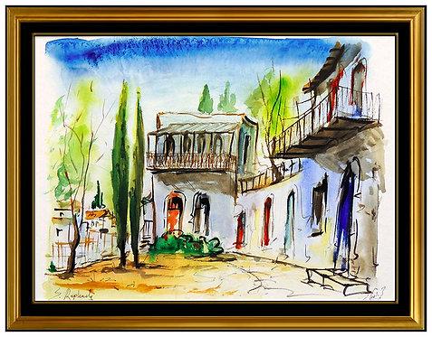 """Original Jerusalem - Nahbet Isaac Quarter"" by Zvi Raphaeli"