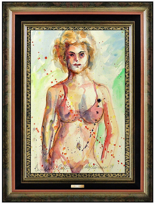 """Original Playboy Model Candace Collins"" by LeRoy Neiman"
