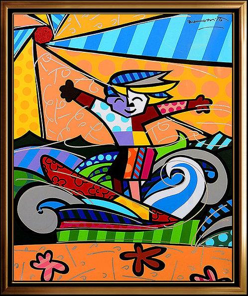 """""""Surfer Boy"""" by Romero Britto"""