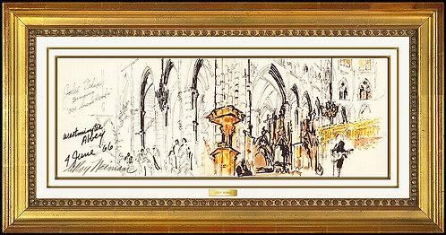 """Westminster Abbey Original"" by LeRoy Neiman"